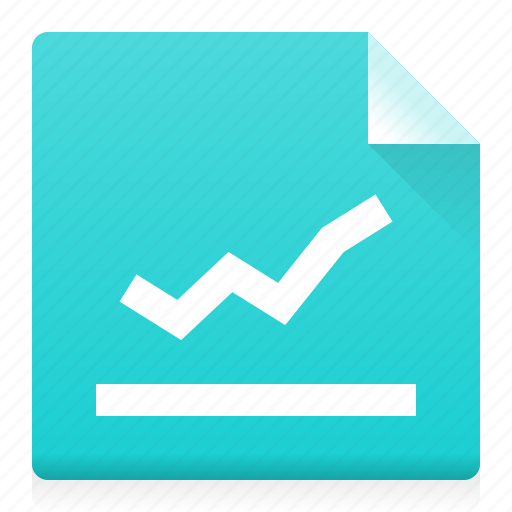 analyse, chart, data, diagramm, document, file, type icon