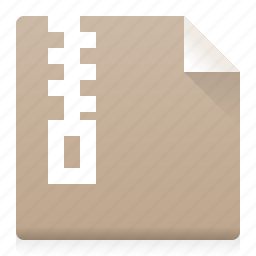 archive, compress, document, file, type, zip icon