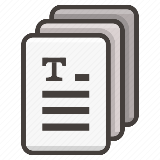 document, documents, file, text icon