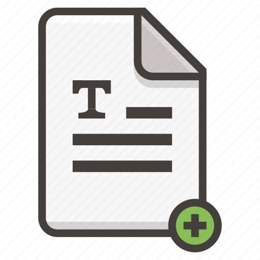 Document, file, add, text icon - Download on Iconfinder