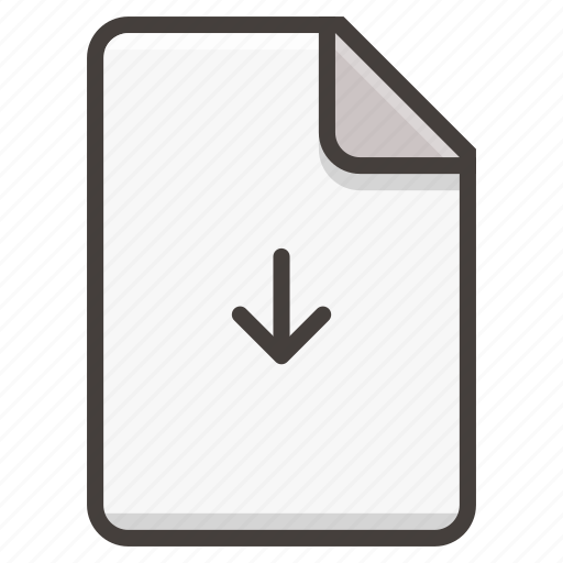 Document, file, arrow, download icon - Download on Iconfinder