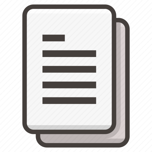 Document, file, documents, text icon - Download on Iconfinder