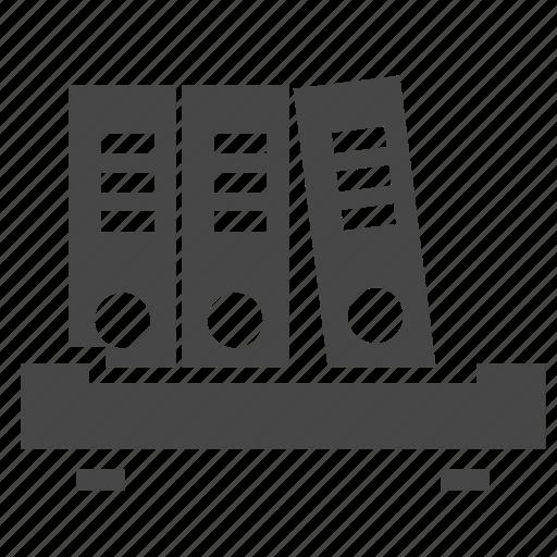 business, document, shelf icon