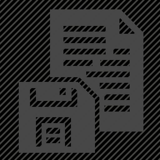 diskette, document, file, save, saving icon