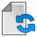 document, page, refresh, reload icon