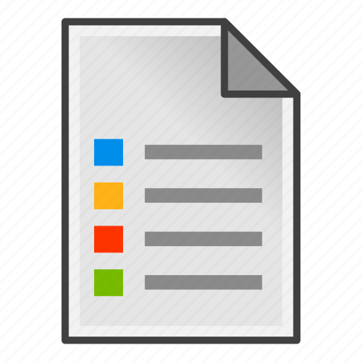 document, list, page, task icon