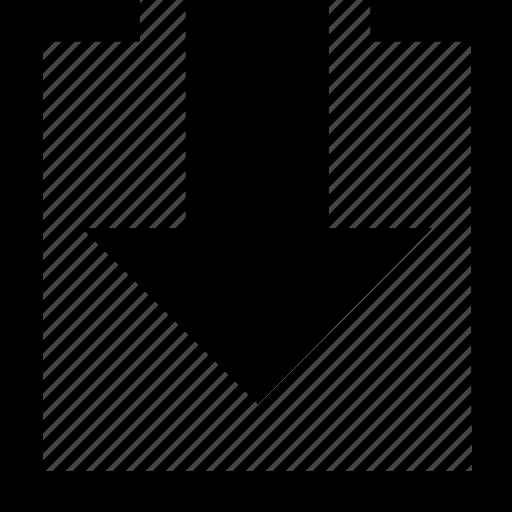 arrow, arrow down, cloud, down, download, file icon