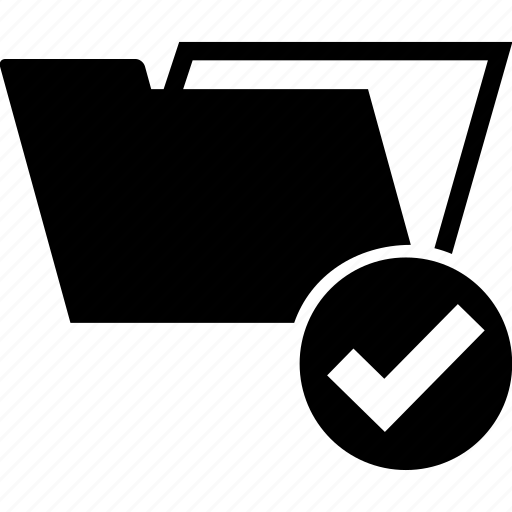 archive, correct, documents, folder, ok, tick icon