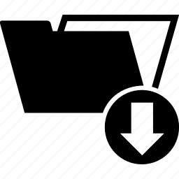 arrow, data, down, download, folder, transfer icon