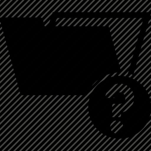 data, folder, information, interrogation, query, question icon