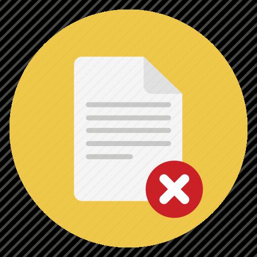 delete, documents, file, remove icon