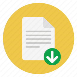 documents, download, file icon