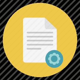 document, set up, settings icon