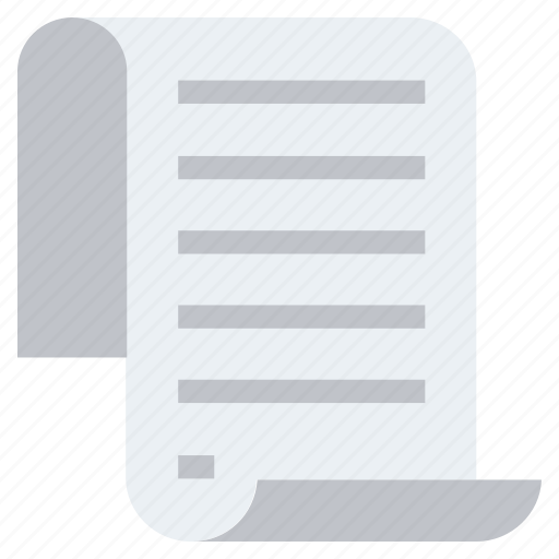 Document, document file, file, list, page, sheet, text icon - Download on Iconfinder