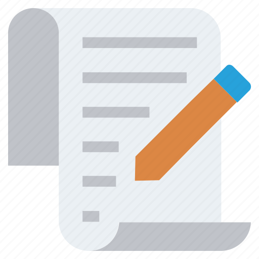 Document, document list, file, list, page, pencil, write icon - Download on Iconfinder