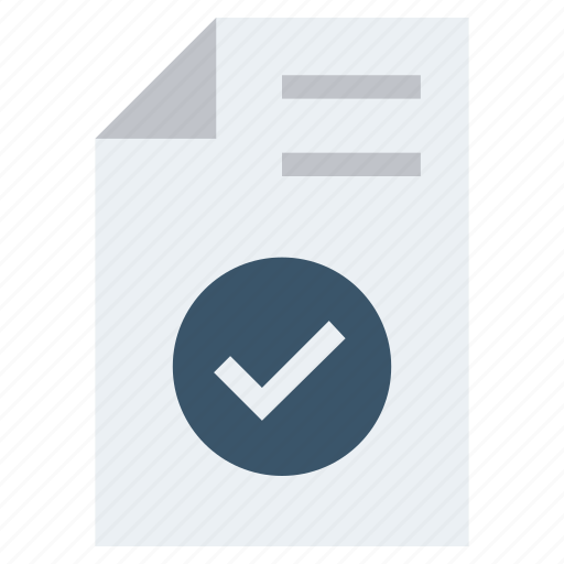 Accept, access file, document, document list, file, page, paper icon - Download on Iconfinder
