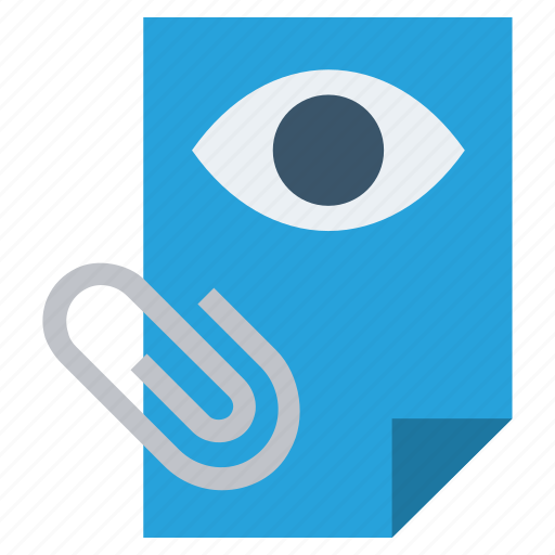 Clip, document, eye, file, page, paper, view icon - Download on Iconfinder