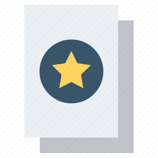 Documents, favorite, favorite files, files, pages, papers, star icon - Download on Iconfinder