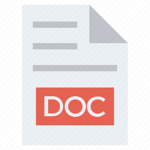 Doc, document, document list, extension, file, format, page icon - Download on Iconfinder