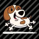 animal, dog, head, pet icon