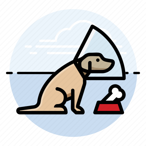 bone, cone, dog, dogs, pet, puppy icon