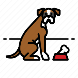 boxer, dogs, pet icon