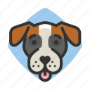 dogs, boxer, avatars, goofy