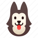 breed, dog, pedigree, pet, siberian, siberian husky, wolf icon