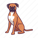 animal, boxer, dogs, pet icon