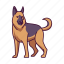dogs, german, pet, shepherd, animal icon