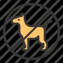 dog, no animals, no dog, no pet icon