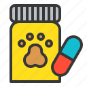 animal drug, dog, pet medicine, vetenary icon