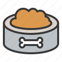 animal food, dog, pet bowl, pet food icon