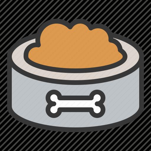 animal food, dog, pet bowl, pet food icon