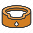 animal bowl, bowl, dog, pet bowl icon