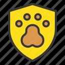 animal, dog, insurance, shield icon