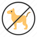 dog, no animals, no dog, no pet icon