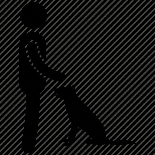 dog trainer, dog training, obedience training, pet care, pet training icon