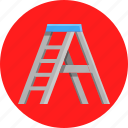 carpenter, diy, house, ladder icon