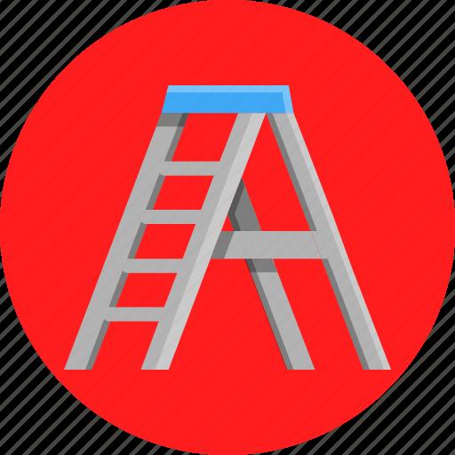 carpenter, diy, house, ladder icon