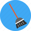 broom, clean, dust, house icon