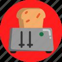 bread, breakfast, eat, house, toast icon