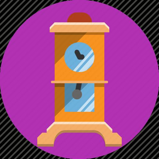 antique, clock, interior, time, watch icon
