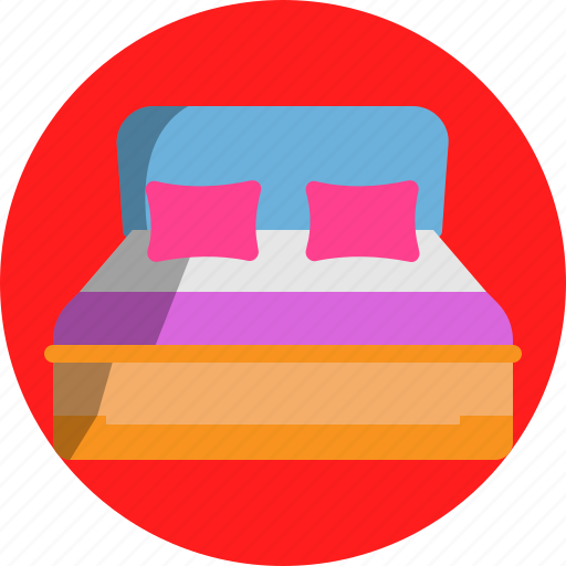 bed, couple, pillow, rest, room, sleep icon
