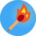 fire, light, match, torch icon