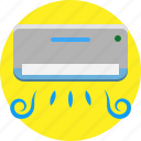 ac, air, air conditioner, electronic, fresh, house, interior icon