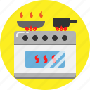 chef, cook, electric, kitchen, stove icon