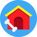 bone, dog, house, pet icon