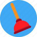 clean, house, plunger, toilet brush icon