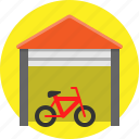 bike, garage, house, sale icon